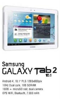 Mobilni telefon Galaxy Tab2  10.1
