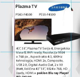 Televizor plazma PS51-F4500