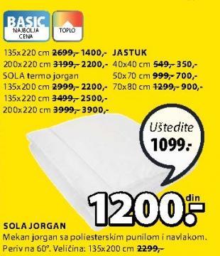 Jorgan Termo Sola 135x220cm