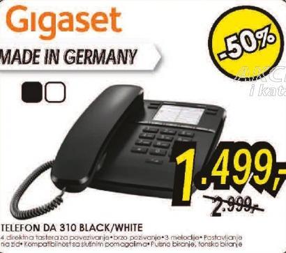 Telefon Gigaset DA 310  black/white