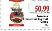 Čokolada big fruit
