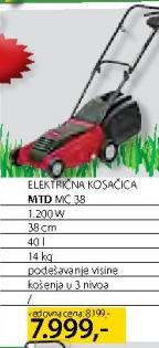 Električna kosačica MC 38