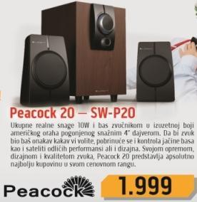Zvučnici 2.1 Peacock 20-SW-P20