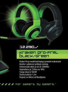 Slušalice RAZER KrakenPro Gaming Headset