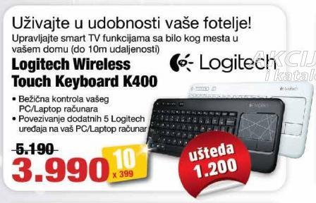 Tastatura Wireless Touck Keyboard K400