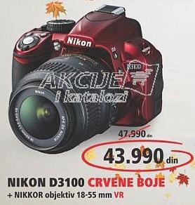 Digitalni Fotoaparat D3100 CRVENE BOJE + NIKKOR 18-55