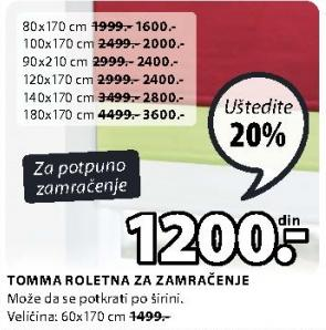 Roletna Tomma 140x170cm