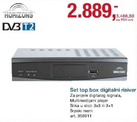 Digitalni risiver Set Top Box Dvb-T2 Horizons