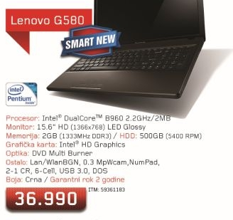 Laptop G580