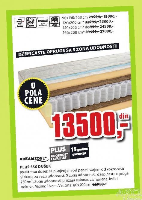 Dušek Plus S50 90x190/200