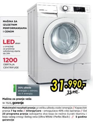 Mašina za pranje veša W 7523