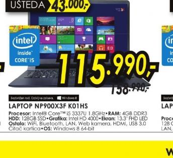 Laptop NP900X3F-K01HS