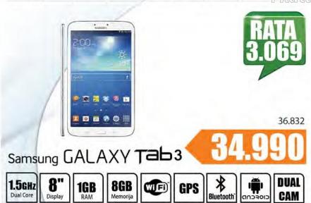 Tablet Galaxy Tab 3, 8.0