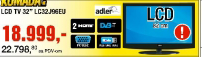 """LCD Tv ADLER  32"""" LC32J96EU"""