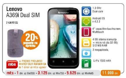 Mobilni telefon A369i Dual Sim
