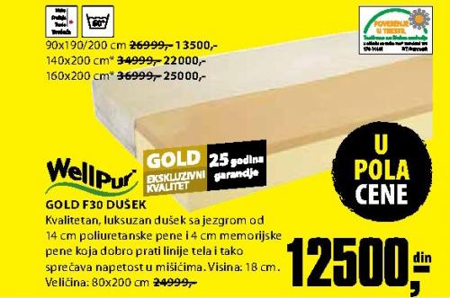 Dušek, Gold F30 90x190/200 cm