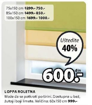 Roletna Loppa 60x150cm