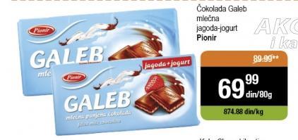 Čokolada mlečno punjenje