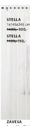Zavesa Stella, 1x145x175cm