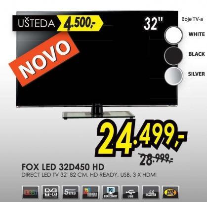 """Televizor LED 32"""" 32d450 Hd"""