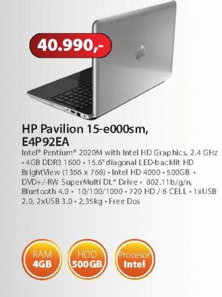 Laptop E4P92EA