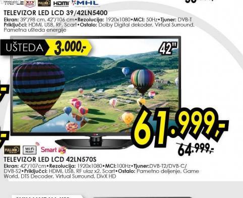 Televizor LED LCD 42LN570S