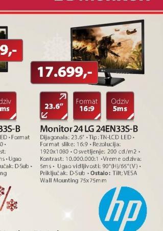 """Monitor 24""""EN33S-B"""
