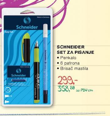 Set za pisanje, Scheinder