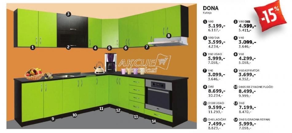 Kuhinjski element D80s Dona