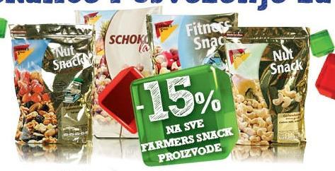 15% popusta na sve Farmers snacks proizvode