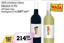 Crveno vino Merlot