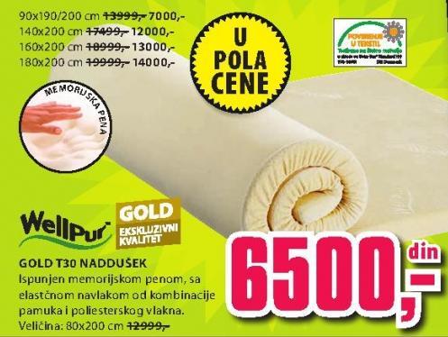 Naddušek Gold T30 160x200