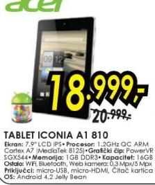 Tablet Iconia A1 810