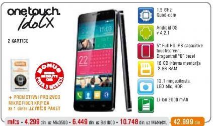 Mobilni telefon One Touch Idol X