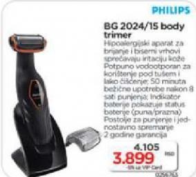Električni brijač za telo  BG2024/15
