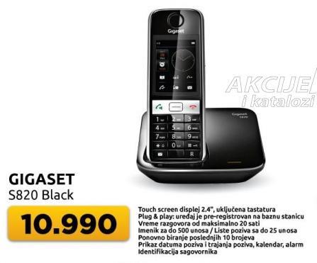 Bezicni telefon Gigaset S820 Black