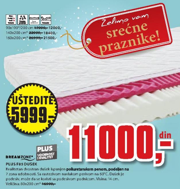 Dušek Plus F85, 90x190/200cm