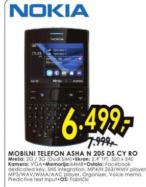 Mobilni telefon Asha N 205 DS CY RO