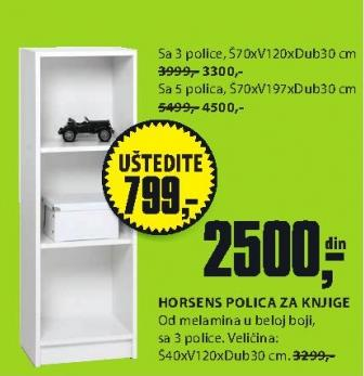 Polica za knjige Horsens 40x120x30