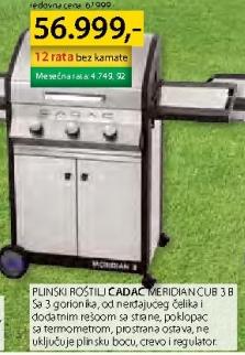 Plinski roštilj MERIDIAN CUB 3B