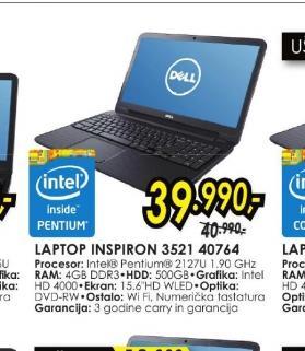 Laptop Inspiron 3521 40764