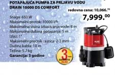 Potapajuća Pumpa za prljavu vodu 10000 CF Comfort