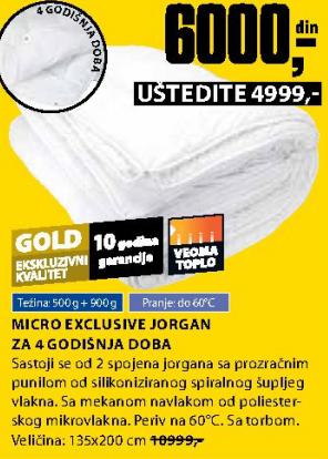 Jorgan Micro Exclusive za 4 godišnja doba