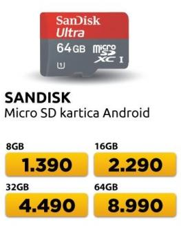 Memorijska kartica Micro SD Android 64GB