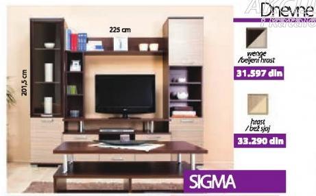 Dnevna soba Sigma hrast/bež sjaj