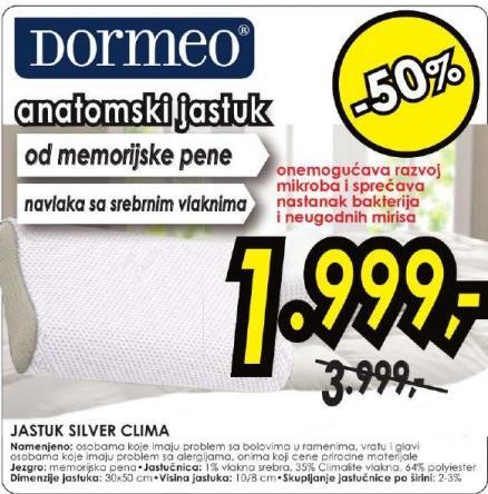 Jastuk Silver Clima