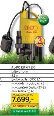 Potapajuća Pumpa DRAJN 8001