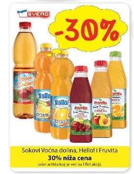 30% popusta na sokove Voćna dolina