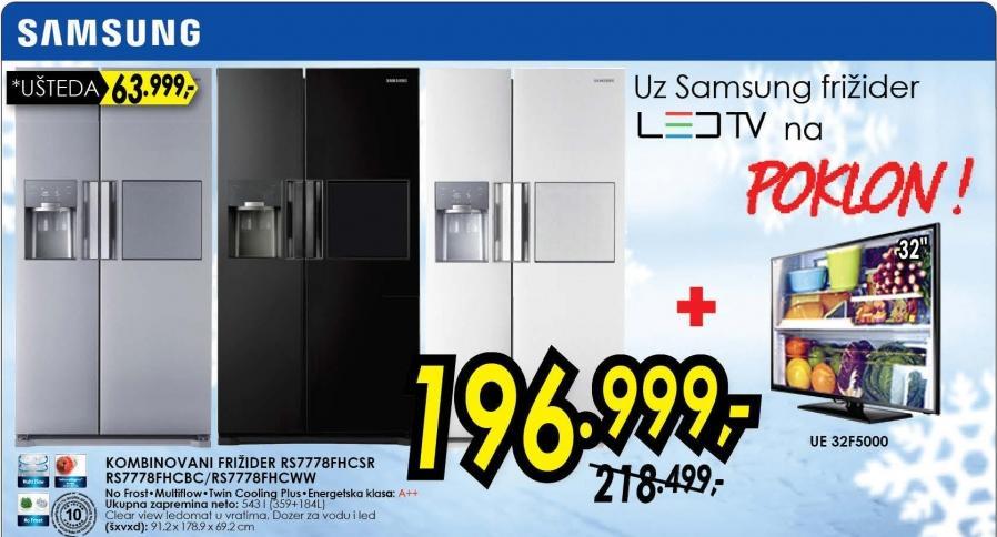 Kombinovani frižider Rs7778fhcsr