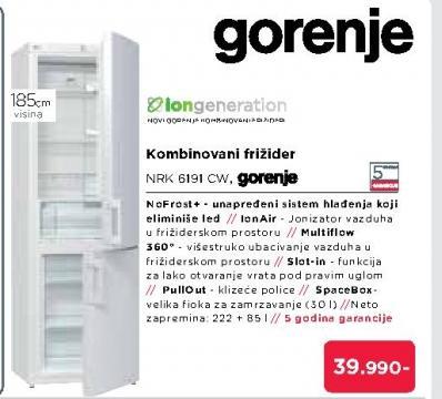 Kombinovani Frižider NRK6191CW